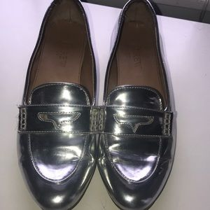 J.Crew metallic loafers